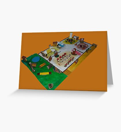 Lunch box dolls house Greeting Card