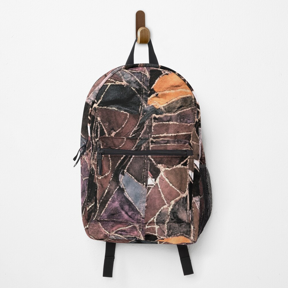 leather patches Backpack
