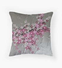 zen Japanese Cherry Blossom tree Throw Pillow