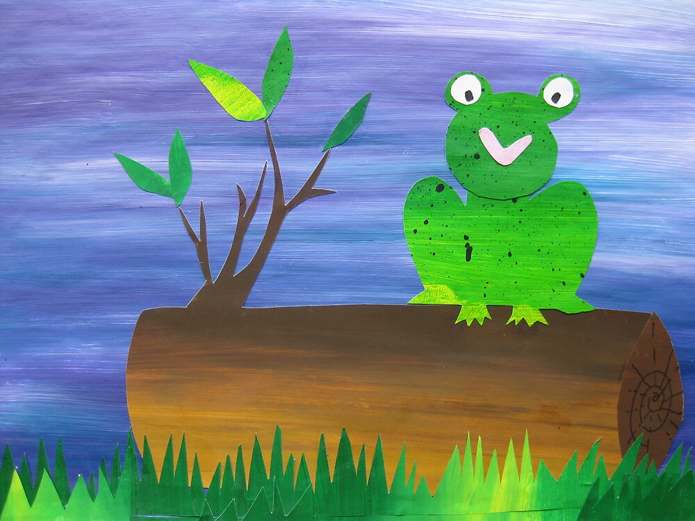 Frog on a Log by cathyjacobs