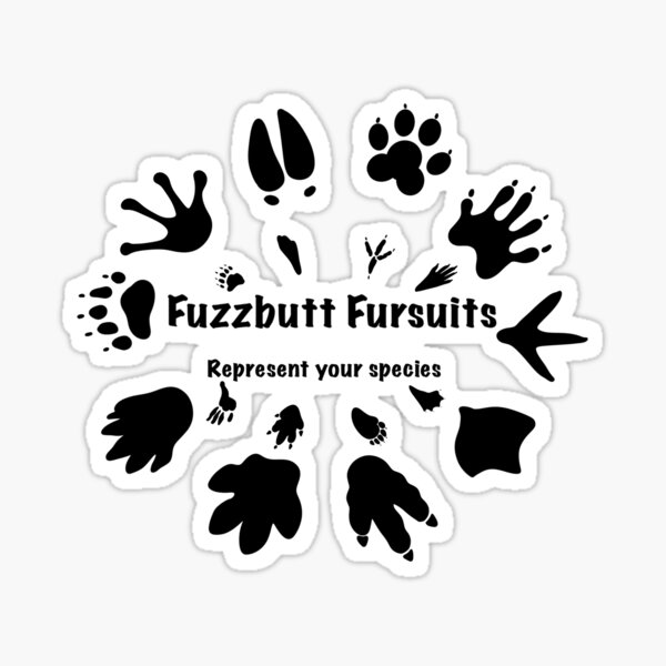 FuzzButt Slogan Sticker
