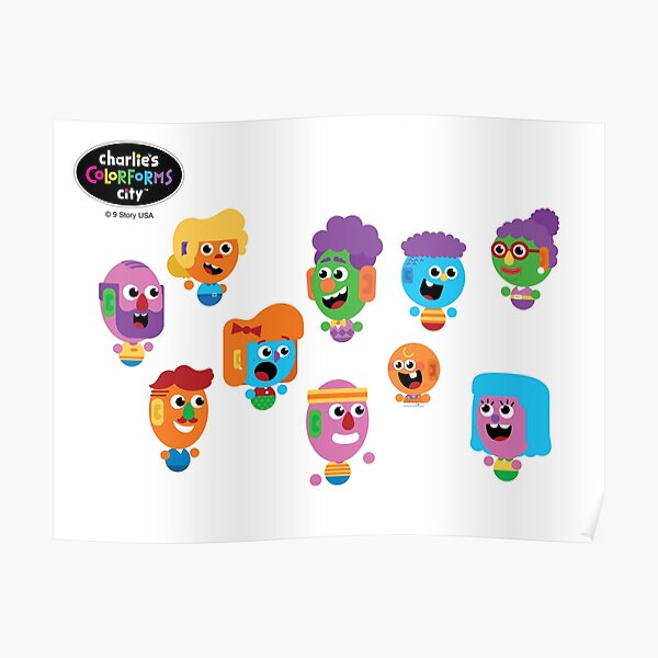 Charlie's Colorforms City - Silly Faces Poster