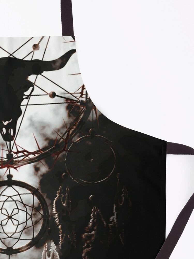 Alternate view of Summoning circle pentagram - Dreamcatcher Apron