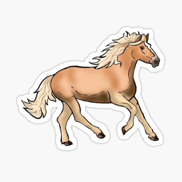 Haflinger Pferd Sticker