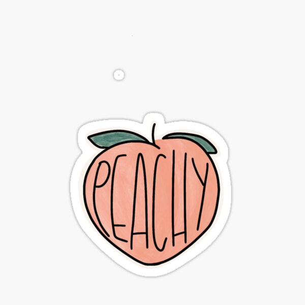 peachy sticker Sticker