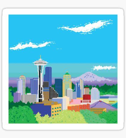 Seattle Pixel Skyline Sticker