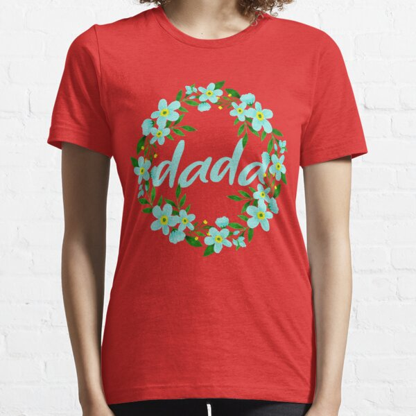 Floral Dada, Forget Me Not Floral Wreath  Essential T-Shirt