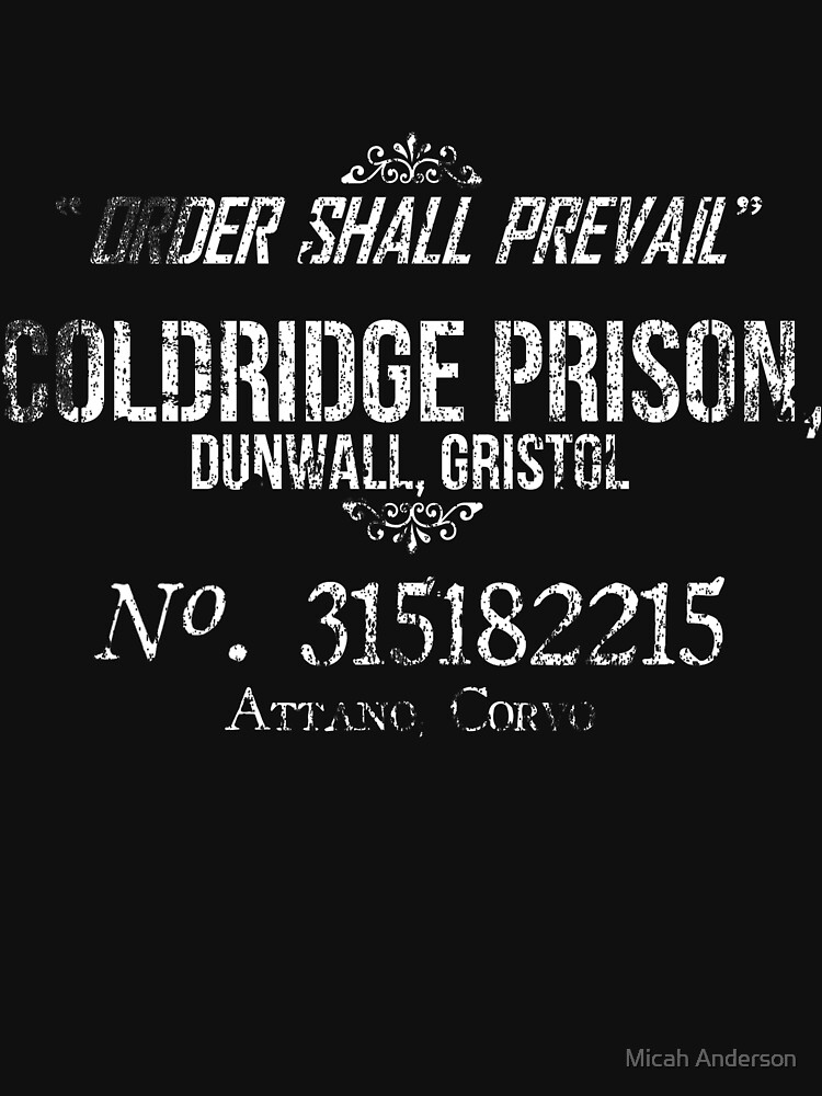 Coldridge Prisoner Shirt | Unisex T-Shirt