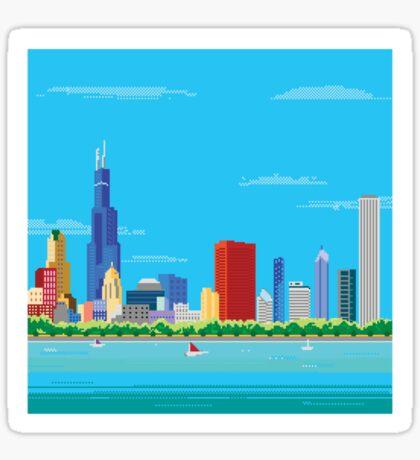 Chicago Pixel Skyline Sticker