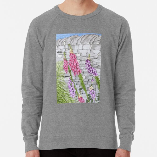 Foxgloves and ferns Lightweight Sweatshirt