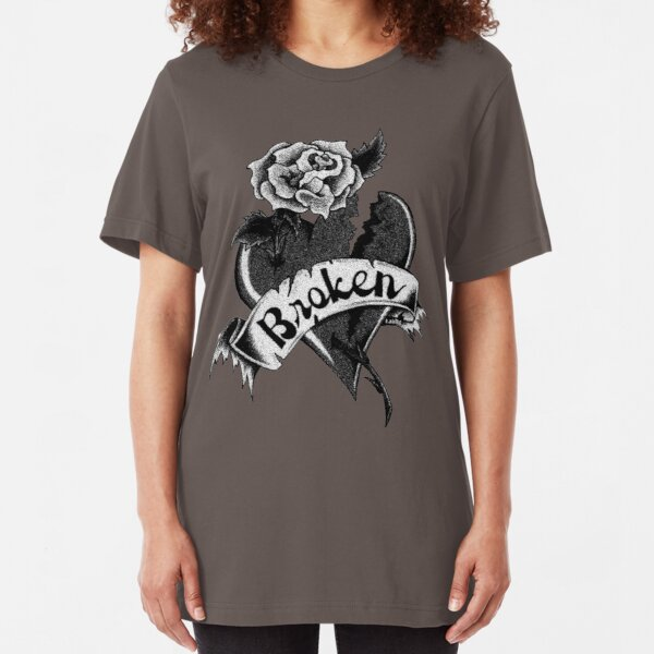Broken Slim Fit T-Shirt