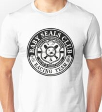 Baby Seals Club Racing White T-shirt Unisex T-Shirt