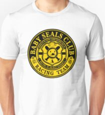 Baby Seals Club Racing Black T-shirt Unisex T-Shirt
