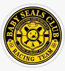 Baby Seals Club Racing Black T-shirt Sticker