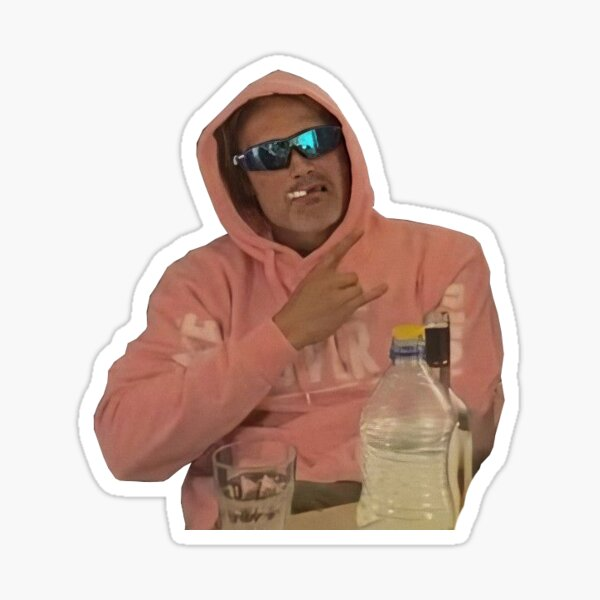 mads mikkelsen and his pink hoodie Sticker