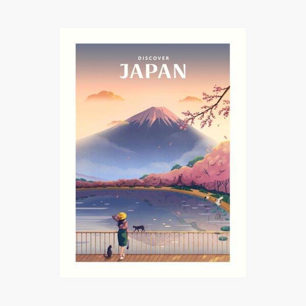 Discover Japan Art Print