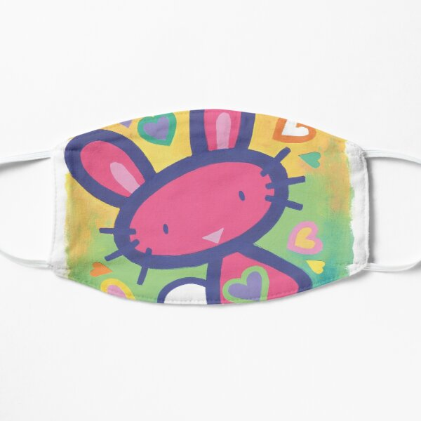 Raspberry Love Bunny Small Mask
