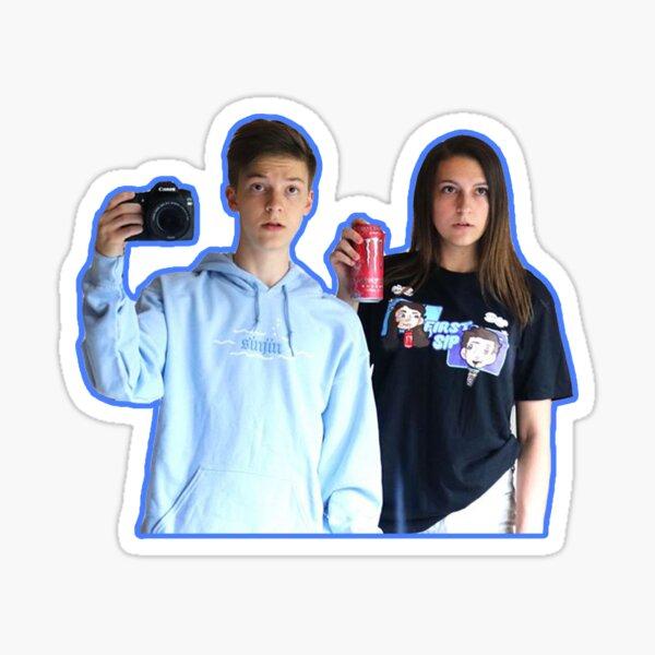 weston and kalynn sticker Sticker