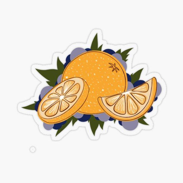 Oranges and Berries Transparent Sticker
