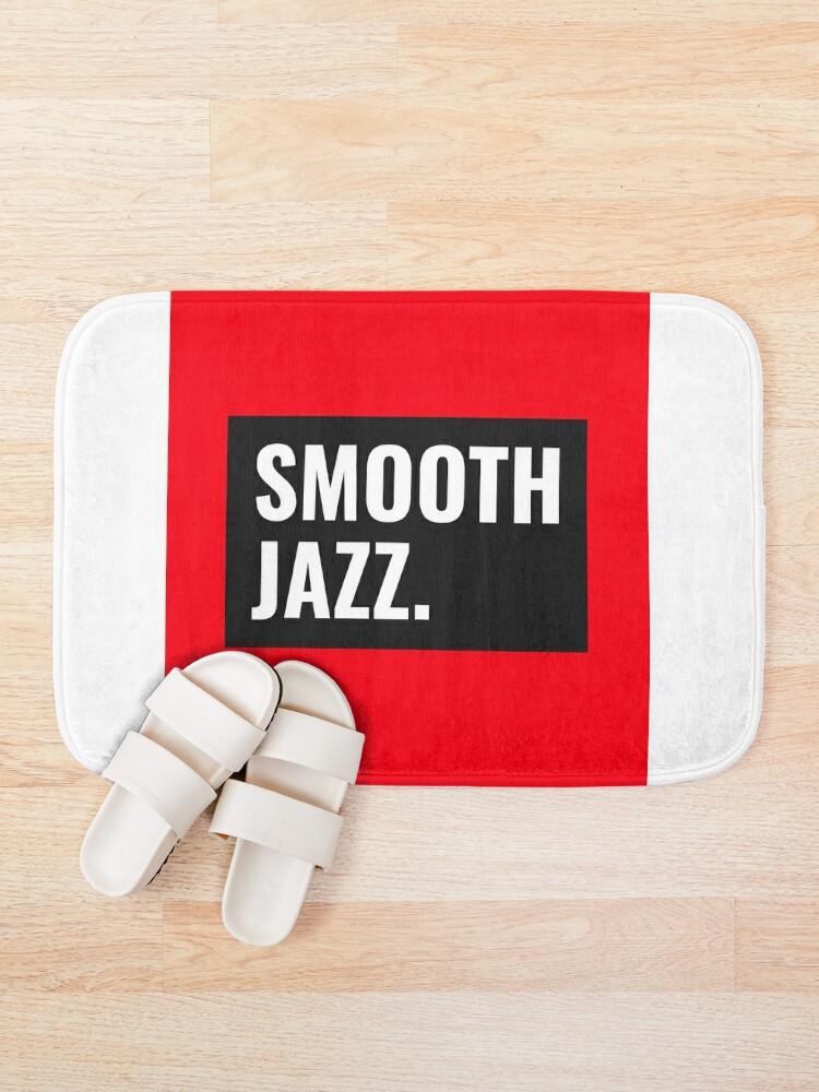 Alternate view of TheCoffeeCupLife: Smooth Jazz Bath Mat