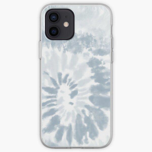 Trendy Pale Blue Swirl Tie Dye Pattern  iPhone Soft Case