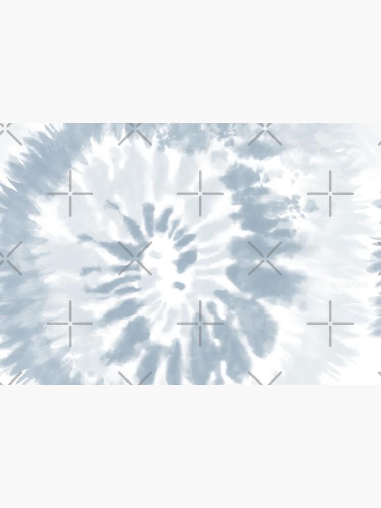 Trendy Pale Blue Swirl Tie Dye Pattern  by jamiemaher15