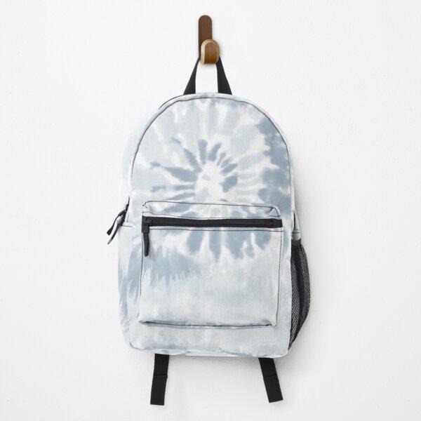 Trendy Pale Blue Swirl Tie Dye Pattern  Backpack
