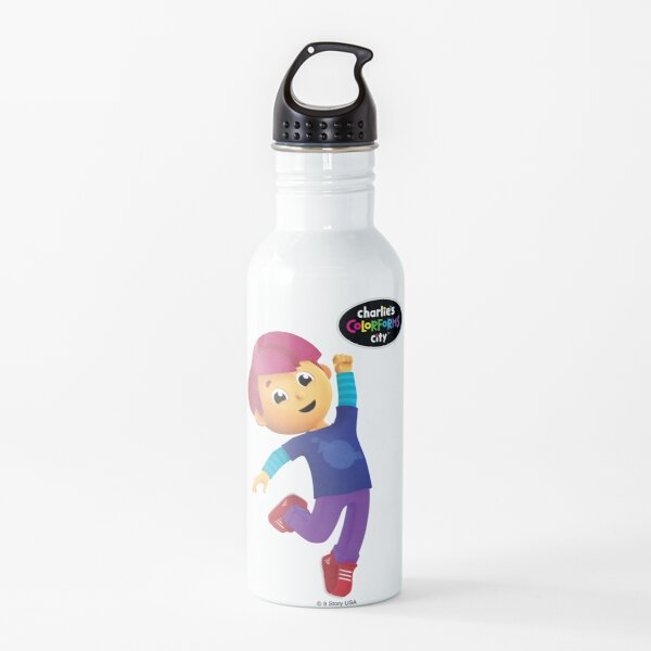 Charlie's Colorforms City - Red Excited Water Bottle