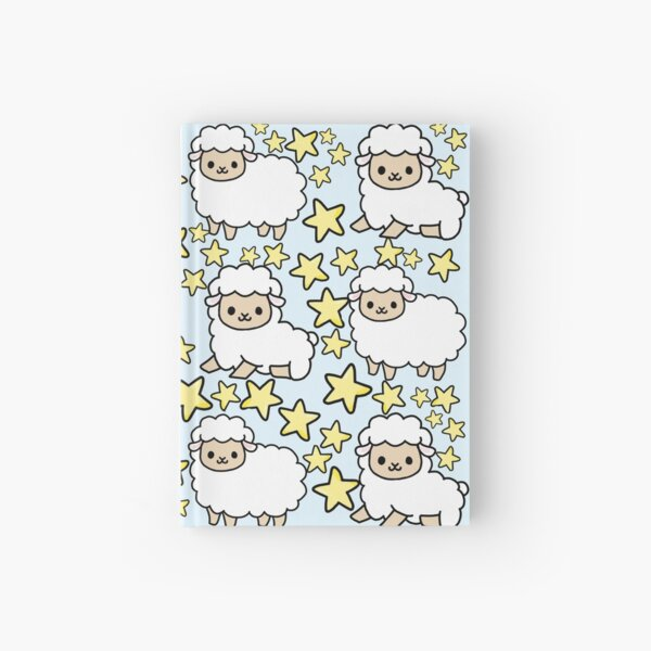 Cute Lamb Sheep and Star Pattern Hardcover Journal