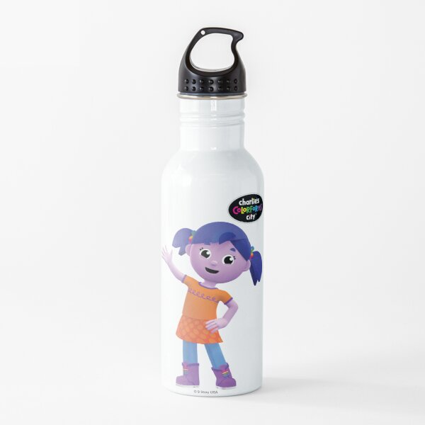 Charlie's Colorforms City - Violet Waving Water Bottle