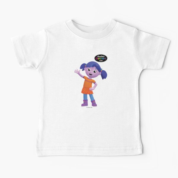 Charlie's Colorforms City - Violet Waving Baby T-Shirt