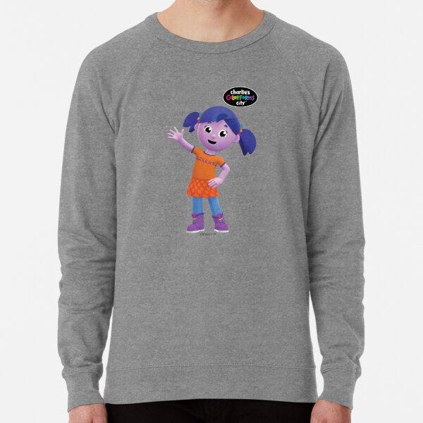 Charlie's Colorforms City - Violet Waving Lightweight Sweatshirt