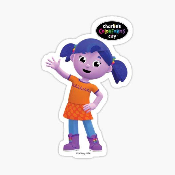 Charlie's Colorforms City - Violet Waving Sticker