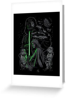 Skywalking Dead on Black by popnerd