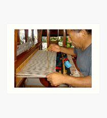 The carpet weaver Art Print