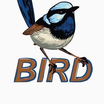 BIRD - Fairy Wren (Male) by Sadgi