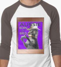 AUSSIE BORN & BRED Men's Baseball ¾ T-Shirt