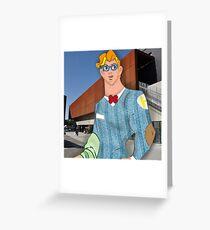 Hipster Hercules Greeting Card