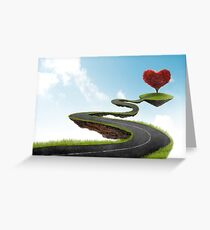 The road to Heart tree Greeting Card