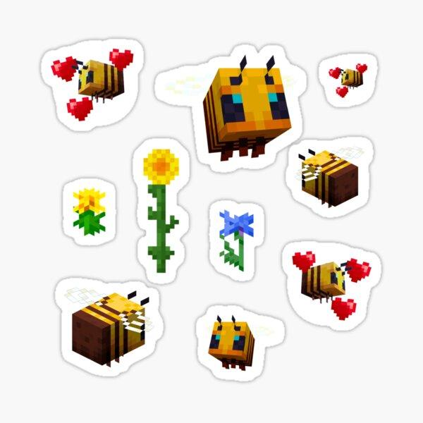 Minecraft Bee Stickerpack Sticker Sticker
