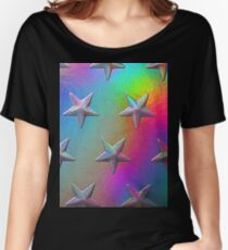 PSYCHEDELIC STARS. Women's Relaxed Fit T-Shirt