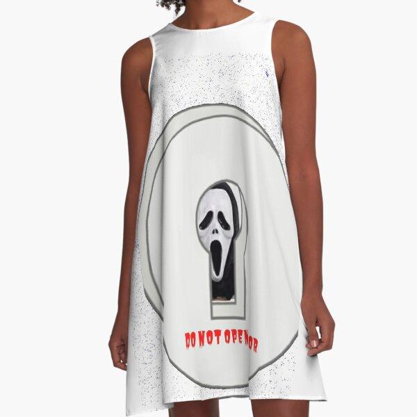 HORROR BEHINDE DOOR A-Line Dress