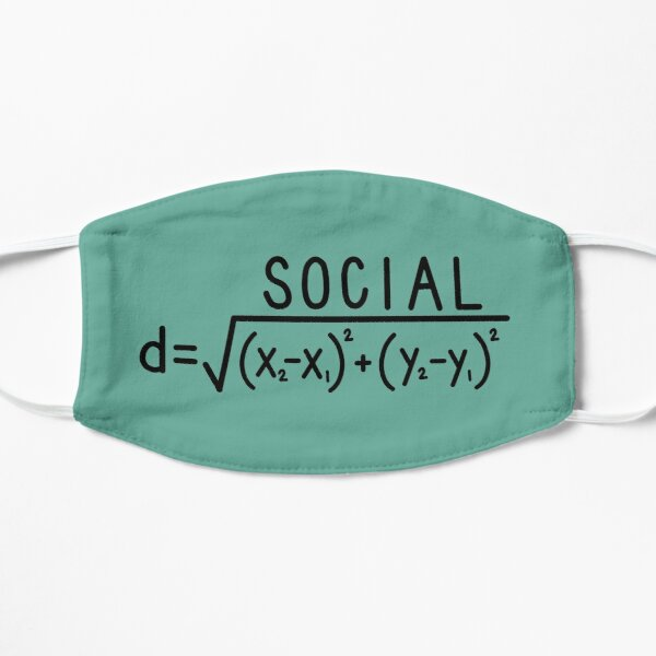 Social Distance (formula) Teal Mask