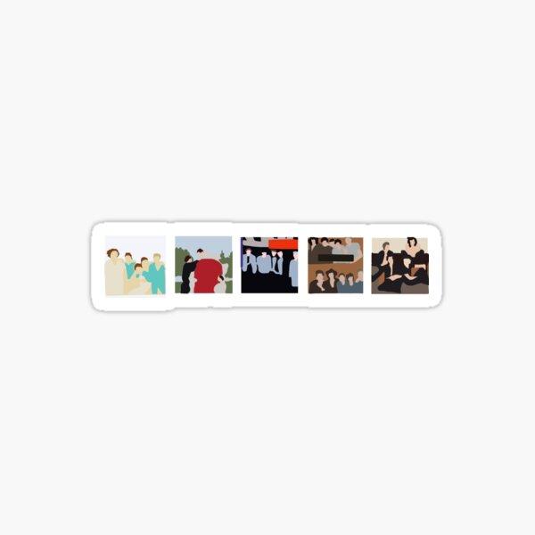 One Direction Discography Art Sticker Sticker