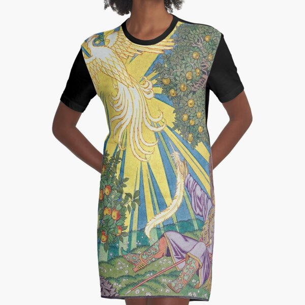 Ivan and the Firebird - Ivan Bilibin Graphic T-Shirt Dress