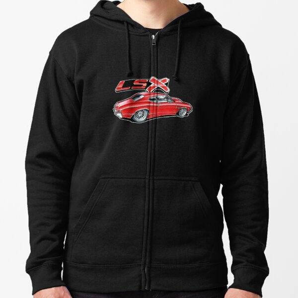 68 Chevelle - Red Zipped Hoodie