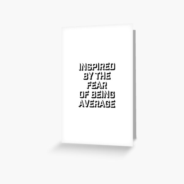 inspired Greeting Card
