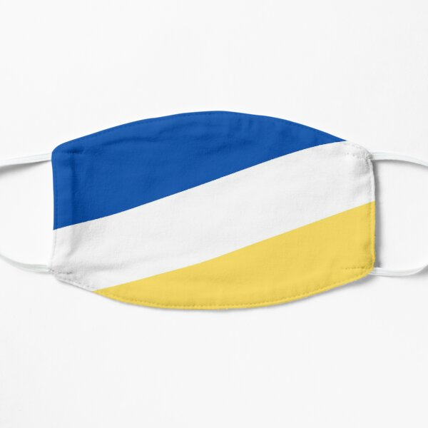 Teal White And Yellow Country Diagonal Flag Stripe Pattern Mask By Zenmasksstore Redbubble