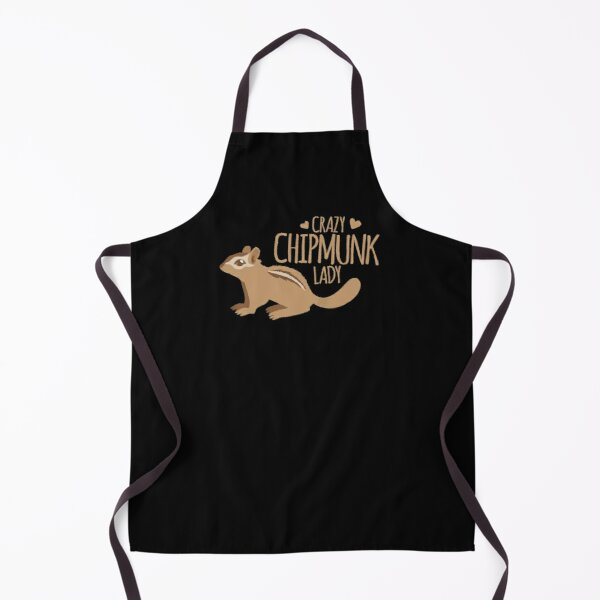 Crazy Chipmunk lady Apron