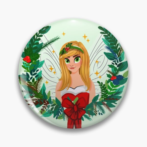 Green Wreath Holly's Magical Fairy Tale Christmas™ Pin